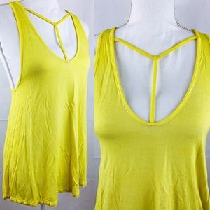 FP We The Free Yellow T Front Soft Tank Sz XS